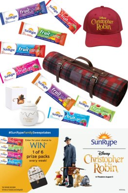 Looking for healthy lunchbox ideas for Back To School? Add one these fruit bars and join us as we celebrated the release of the Disney movie #ChristopherRobin with the #SunRypeFamilySweepstakes.