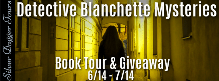 $25 Amazon Giveaway & Detective Blanchette Mysteries Book Tour - banner