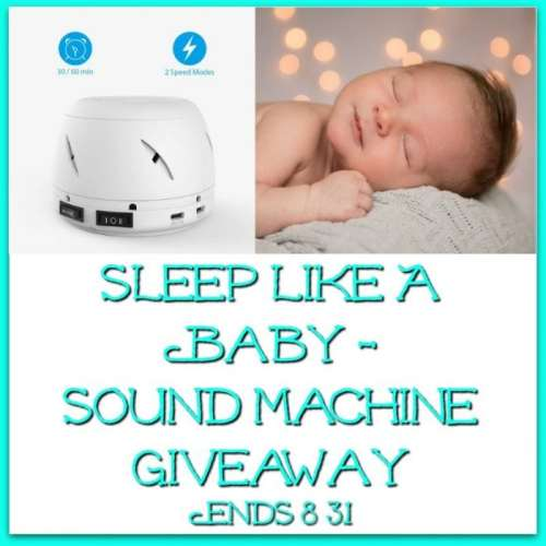You can win a White Noise Machine in this Sleep Like A Baby - Sound Machine Giveaway