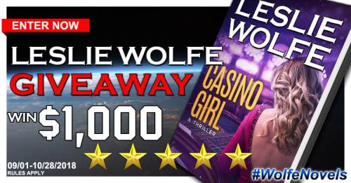 Casino Girl Book Tour $1000 Gift Card Giveaway Ends 10/28 - Sweet Southern Savings is hosting today's blog tour stop for Leslie Wolfe' Casino Girl Book Tour. Stop by for more about this book, the author, and a tour-wide giveaway! #Win #Winit #Winning #Sweeps #Sweepstake #Sweepstakes #Contest #ContestAlert #Competition #Giveaway #GiveawayAlert #Prize #Amazon #BookTour #Book #Read