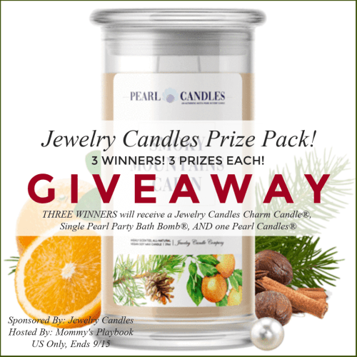 Three #Win a Jewelry Candles Prize Pack when this #Fall #Giveaway Ends 9/15 TRV $200 #Winit #Sweeps #Sweepstake #Sweepstakes #JewelryCandles #FallScents #FallFavorites #AutumnCandles