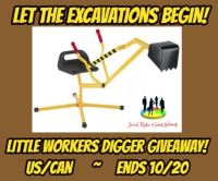 Let the Excavations Begin! Enter for a chance for your kids get jobs done with the PlaSmart Little Workers Digger Ride on Toy for FREE when this fall giveaway ends 10/20. #SMGN #GiftGuide #Win #Winit #Winning #Sweeps #Sweepstake #Sweepstakes #Contest #ContestAlert #Competition #Giveaway #GiveawayAlert #Prize #Free #Gift #Fall18