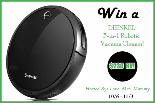 3-in-1 Robotic Vacuum Cleaner Giveaway Ends 11/3! ~ $230 TRV!