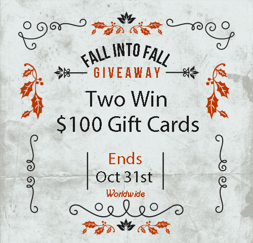 Enter for a chance to be one of two who will win a $100 Visa Gift Card or PayPal Cash when this Fall Into Fall Worldwide Giveaway ends 10/31 #Win #Winit #Winning #Sweeps #Sweepstake #Sweepstakes #Contest #ContestAlert #Competition #Giveaway #GiveawayAlert #Prize #Free #Gift #Paypal #Visa #FallIntoFall #Worldwide