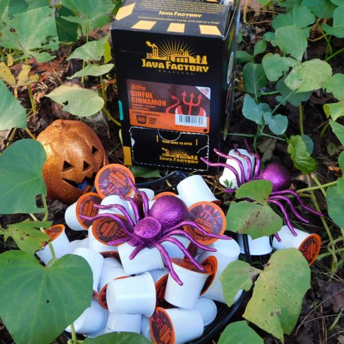 The leaves are falling! This is the time of year when we gather our crops and fruits, start carving pumpkins, and making plans for Thanksgiving dinner. No matter what you serve for dessert you'll need a great coffee to compliment it. Java Factory Cinnamon and Caramel Coffee offers the perfect combination of flavors to do just that.