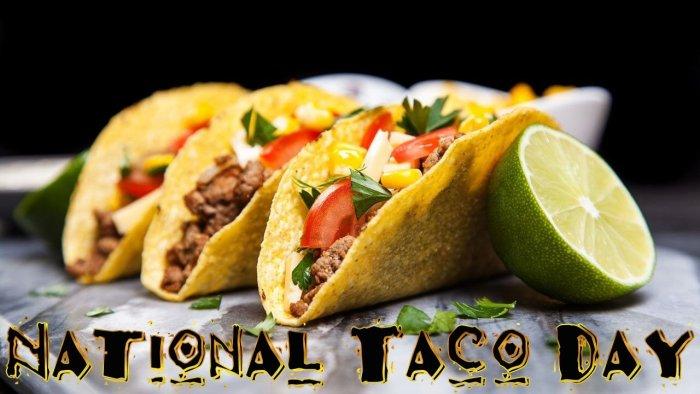 Get FREE TACOS tomorrow for National Taco Day! #Free #Taco #NationalTacoDay #TacoLife #TacoTuesday #Food #TacoThursday