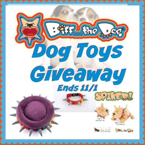 Biff The Dog – Dog Toys Giveaway Ends 11/1
