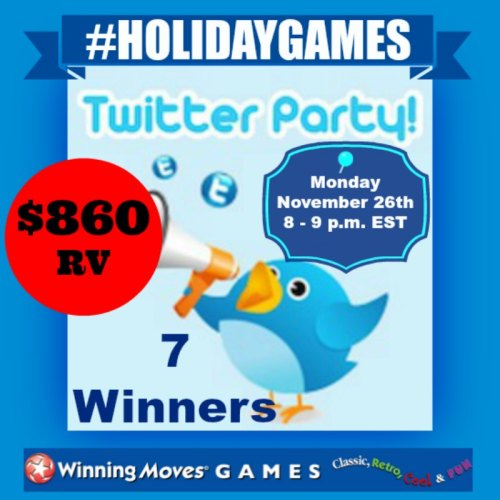 YOU'RE INVITED to the #HOLIDAYGAMES TWITTER PARTY? #CyberMonday, November 26th!!! 7 winners ? @WinningMovesUSA #TwitterParty Follow Your #Giveaway Hosts @las930 @SwtSthrnSavings and RSVP Now for a chance at $860 in prizes ? https://wp.me/p8P277-6OF