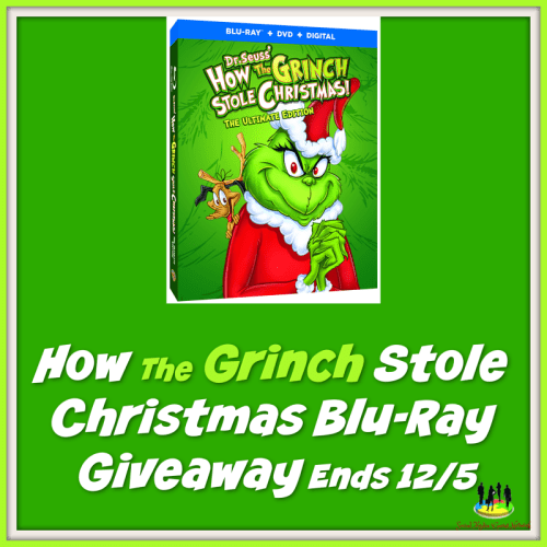 Enter to win a How the Grinch Stole Christmas Blu-Ray when this #Holiday #Gift Guide #Giveaway ends 12/5. #SMGN #GiftGuide #Win #Winit #Sweeps #ContestAlert #GiveawayAlert #Prize #Christmas