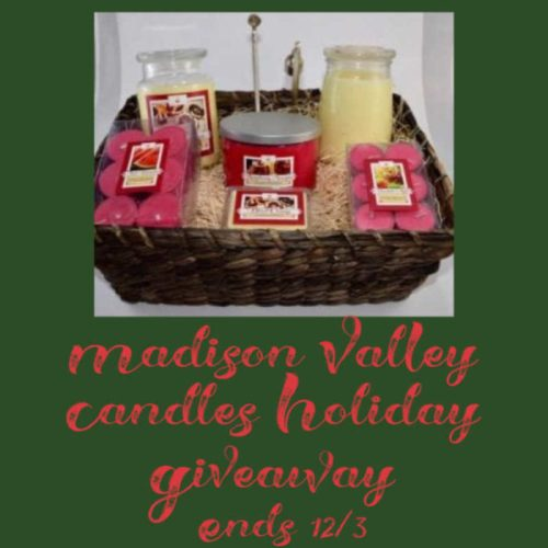 One Lucky Reader Will Win A Supreme Soy Candle Gift Basket From Madison Valley Candles When This Holiday Giveaway Ends 12/3. #SMGN #GiftGuide #Win #Winit #Sweeps #ContestAlert #Giveaway #GiveawayAlert #Prize #Free #Gift #Holiday #Christmas