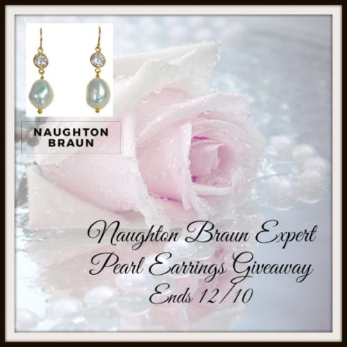 One lucky reader will #win a pair of Naughton Braun Expert White Pearl Earrings when this #Holiday #Giveaway ends 12/10. #SMGN #GiftGuide #Winit #Sweeps #ContestAlert #GiveawayAlert #Prize #Free #Gift #Christmas