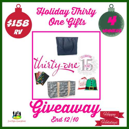 4 Win This Holiday Thirty-One Gifts Giveaway When It Ends 12/10