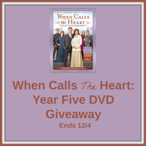 Enter for a chance to #Win a When Calls The Heart: Year Five DVD when this #Giveaway ends 12/4. #GiveawayAlert #Prize #Free #Gift #Holiday