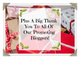 Plus A Big Thank You To All Of Our Promoting Bloggers!