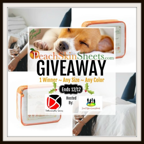 One lucky reader will #win a set of Original PeachSkinSheets in any size and colorwhen this #Holiday #Gift Guide #Giveaway ends 12/12.  #Sweeps #GiftGuide #Prize #Free #Sweepstake #Winit #Christmas