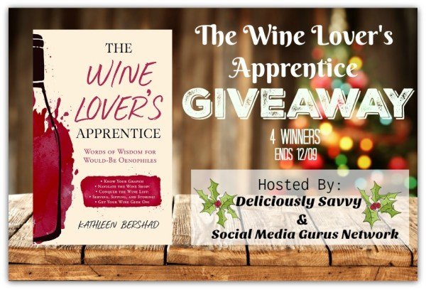 Enter for a chance to be one of four lucky readers who will #Win a Hardcopy Of The Wine Lover's Apprentice When This #Holiday #Gift Guide #Giveaway Ends 12/9. #Sweeps #GiftGuide #Prize #Free #Sweepstake #Winit #Christmas
