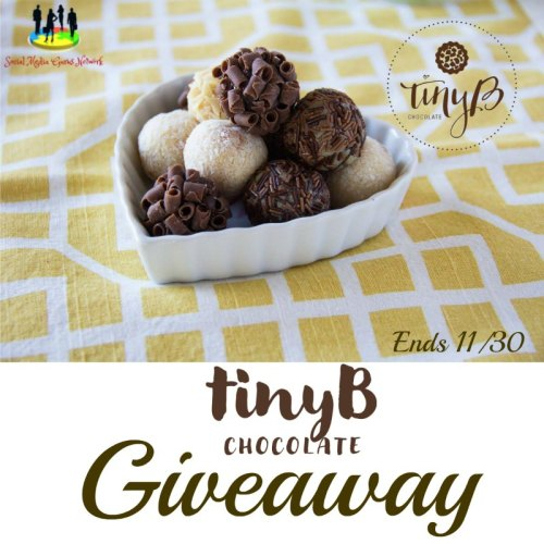 3 win a 15-piece box of tinyB Chocolate when this giveaway ends 11/30