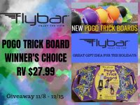 Enter for a chance to #Win a Flybar Pogo Trick Board when this #Giveaway ends 12/15. #GiveawayAlert #Prize #Free #Gift #Holiday
