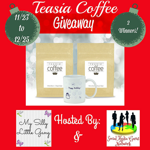 2 #Win Teasia Coffee Beans and Mug When This #Holiday #Gift Guide #Giveaway Ends 12/25 #Sweeps #GiftGuide #Prize #Free #Sweepstake #Winit #Christmas #HGG18