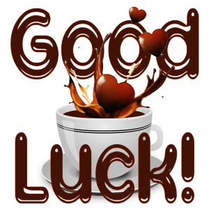 Good Luck Chocolate Heart Splash