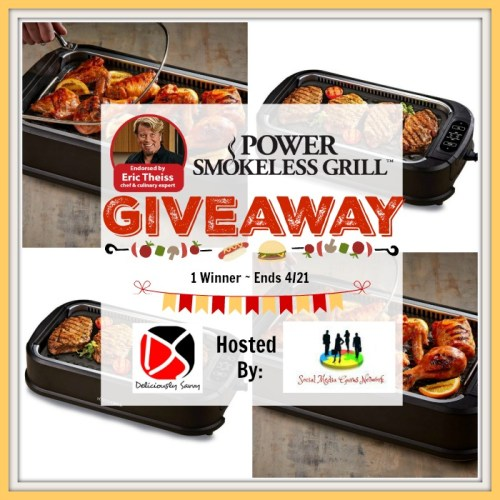 One Lucky Winner Will #Win A Power Smokeless #Grill With Additional Griddle Plate Valued At $120 when this Power Smokeless Grill ?Spring/?Easter Gift Guide #Giveaway Ends 4/21.