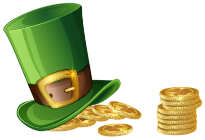 St. Patrick's Day Hat and Gold Coins Transparent