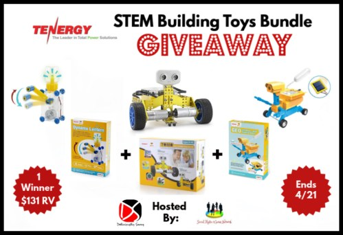 One lucky reader will #win this ?Spring/?Easter Gift Guide #Giveaway for a Tenergy STEM Building Toys Bundle when it ends 4/21. #Spring #Easter #Toys #Winit #Contest
