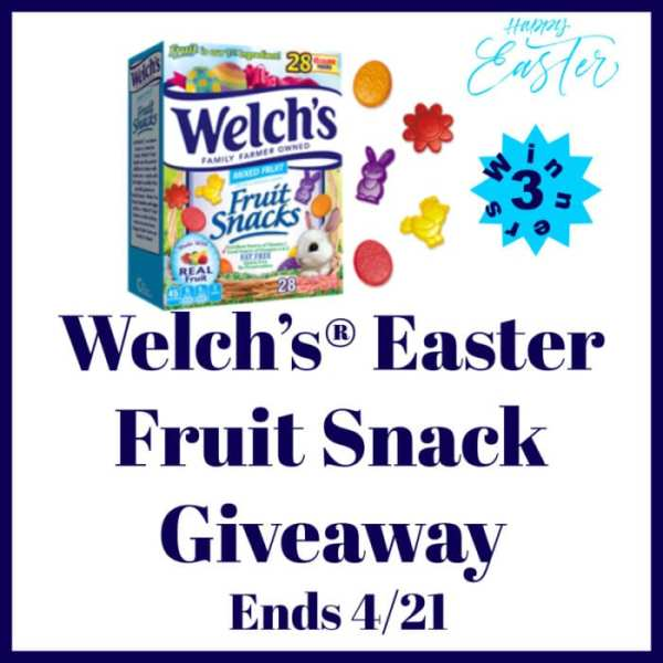 Enter for your chance to be 1 of 3 who #WIN Welch's #Easter Fruit Snacks when this #Spring Gift Guide #Giveaway Ends on 4/21. @Welchs #Welchs #AfterSchoolSnacks #SchoolLunchBox #Contest #HealthySnack #EatingHealthy #Winit #EasterBasket