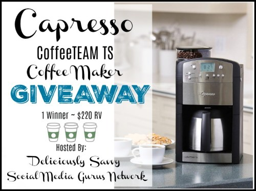 This Mother's Day/Father's Day/Graduation Gift Guide #Giveaway for a Capresso CoffeeTEAM TS #Coffee Maker ends 6/23. #Contest #Winit #Graduation #MothersDay #FathersDay #GiftGuide #Gift