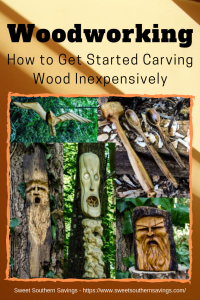 Want to start creating but don't have a lot of money to spend on tools? Whether you're making a wooden spoon, wood spirits, creating unique spindles, or adorning furniture carving wood is all about patience, tools, and timing. #WoodCarving #DIY #Dremel #Woodworking