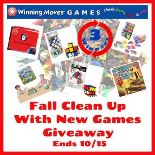 Three #WIN over $200 in new #games from Winning Moves when this #SMGN #Fall Clean Up With New Games #Gift Guide #Giveaway ends 10/15. @WinningMovesUSA @SMGurusNetwork @las930