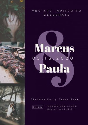 Marcus & Paula Wedding Invitation Made For Free With Adobe Spark