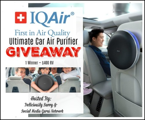 You can #WIN an IQAir Ultimate Car Air Purifier worth $400 when this Gift Guide #Giveaway ends 10/24.