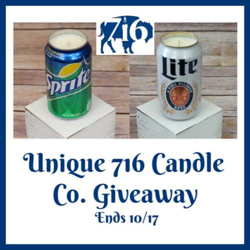 Enter if you'd like to be the lucky reader who will #WIN a Beer or Soda Pop Can #Candle from Unique 716 Candle Co. when this #SMGN Gift Guide #Giveaway ends 10/17.