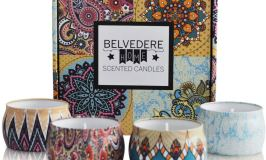 We are giving one lucky individual the chance to win this gorgeous Belvedere Home Natural Scented Soy Candles Decorative Tin Set of 4 Candles.