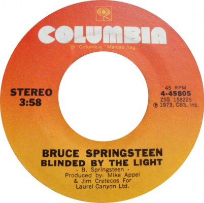 45 - Bruce Springsteen - Blinded By The Light