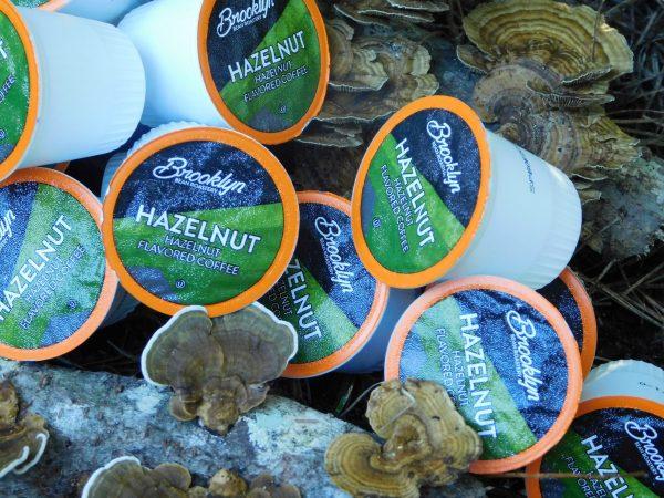 Brooklyn Bean Roastery Hazelnut Coffee Cups On Mushroom Log