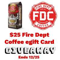 🎄 Enter and you could #WIN a $25 egift card to pick out some awesome coffee or swag for yourself, coffee lover, or fire fighter on your gift list when this #SMGN Holiday Gift 🎁 Guide #Giveaway ends 12/25. @SMGurusNetwork @las930 @SwtSthrnSavings @firedeptcoffee
