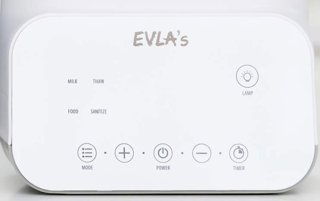 EVLAs Baby Bottle Warmer is a device with multiple functions, it is economical, easy, and fast to use!