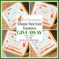 The lucky winner of this Upgrade Your Sleep Experience Giveaway will win any color & size set Of PeachSkinSheets up to a California King! RV up to $180.