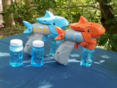 Musical LED Bubble Shark Guns - Orange Shark Gun