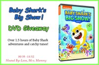 Enter this Baby Shark giveaway for a chance to win a Baby Shark's Big Show DVD for your little one!