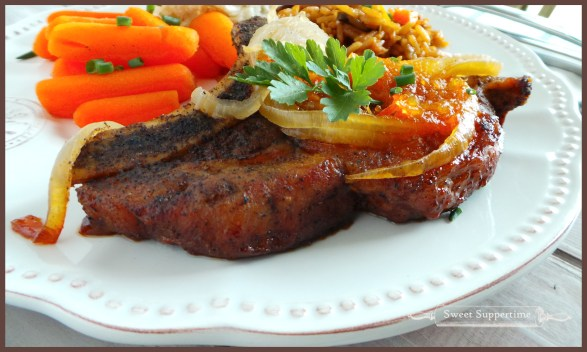 pork chops, best pork chops, apricot glazed pork chops