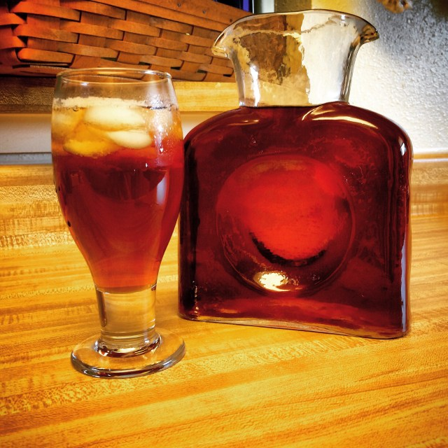 Sweet Tea in a Blenko Handcraft Glass Pitcher
