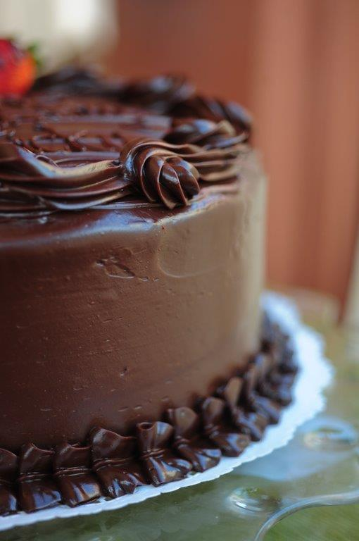 Chocolate Fudge Cake Photo From the Well-Bred Bakery Website on the Menu & More Page