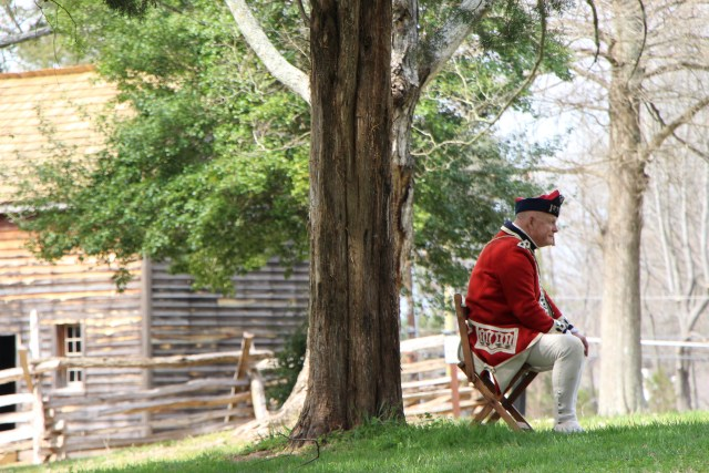 British Encampment at the Hoskins Farmstead
