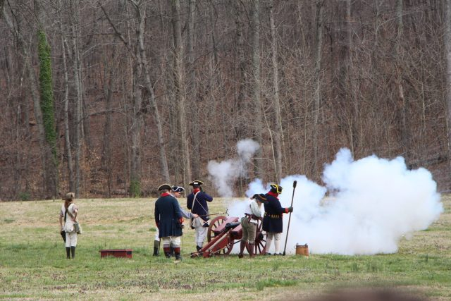 Cannons Firing on the British
