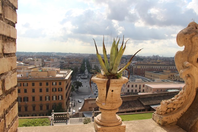 Overlooking Rome from the Vatican