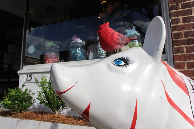 A Lexington Painted Pig at the Candy Factory