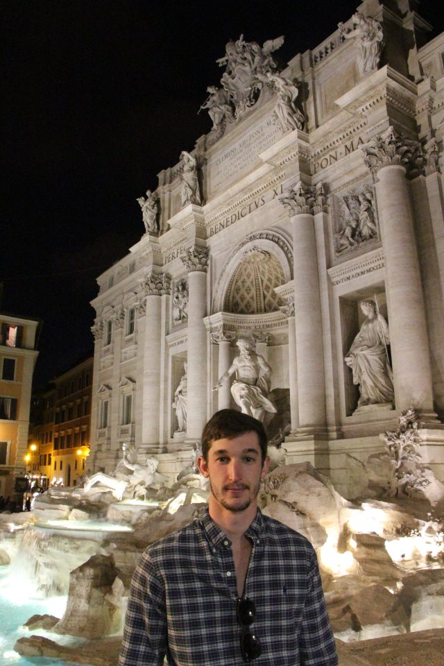 At the Trevi Fountain...